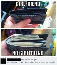 Funny meme relationship humor : notice the comment on the post. Too funny Funny Shit, Funny Cute, Funny Kids, The Funny, Funny Stuff, Funny Drunk, Super Funny, Funny Things, Can't Stop Laughing