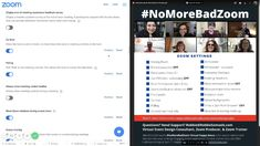 August 2020 Zoom Settings Checklist #NoMoreBadZoom App Zoom, Design Consultant, Event Design, Ads