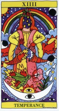 XIV. Temperance - Tarot del Fuego by Ricardo Cavolo