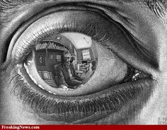 Eye Reflection Drawing | Escher Drawings Pictures Gallery - Freaking News