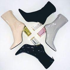 Lady Burgundy: Perspex Heels.