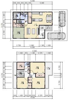 30坪4LDKパントリー収納のある間取り図   理想の間取り Floor Plans, House, Home, Haus, House Floor Plans, Houses