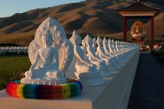 The western Montana site of the Garden of One Thousand Buddhas, just north of the small town of Arlee, is being created on the 60-acre prope...
