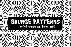 GRUNGE PATTERNS VOL-2 by @Graphicsauthor