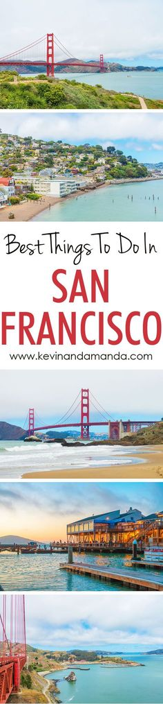 Best Things to do in San Francisco!! The BEST lesser-known locations to get pictures with the Golden Gate Bridge, tips for biking across the Golden Gate Bridge, and the best way to see the redwood forest!