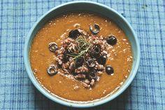 Ulubiona zupa z pieczonych warzyw z czerwonym ryżem i rozmarynem » Jadłonomia ·…