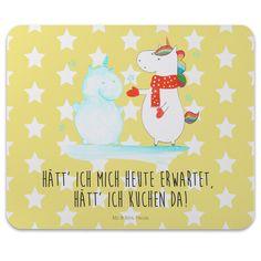 Mauspad Druck Einhorn Schneemann aus Naturkautschuk  black - Das Original von Mr. & Mrs. Panda.  Ein wunderschönes Mouse Pad der Marke Mr. & Mrs. Panda. Alle Motive werden liebevoll gestaltet und in unserer Manufaktur in Norddeutschland per Hand auf die Mouse Pads aufgebracht.    Über unser Motiv Einhorn Schneemann  Das Winter-Einhorn macht richtig Lust auf den ersten Schnee. Schon mal probiert, sich ein Ebenbild aus Schnee zu bauen? Dann wird es aber Zeit. Aber nicht den Kuchen für den…