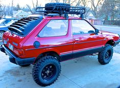 theLandCrab — The Land Crab is a 1980 Subaru hatchback. Lifted Subaru, Lifted Cars, Subaru Cars, Subaru Hatchback, Subaru Justy, Offroader, Automobile, Car Mods, Expedition Vehicle