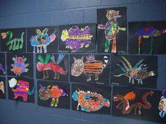 2nd Grade Oaxacan Animals Art Project