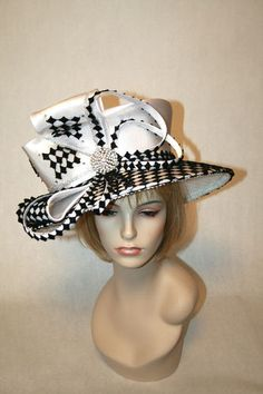 Black and white Kentucky Derby Hat! Can we say Eliza Doolittle at the Royal Ascot? Fun! $149 Click on photo to purchase