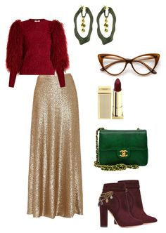 """#anisa4"" by ana-isabel-goncalves on Polyvore featuring Slate & Willow, Sonia Rykiel, Aquazzura, Chanel, Sarah Graham and Lipstick Queen"