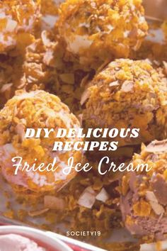 DIY Delicious Fried Ice Cream Recipes Ice Cream Desserts, Ice Cream Recipes, Mexican Fried Ice Cream, Breyers Ice Cream, Delicious Desserts, Yummy Food, Vanilla Bean Ice Cream, Cookie Crumbs, Food Goals