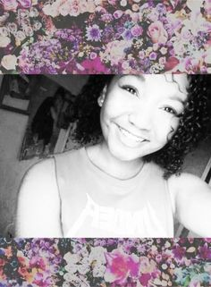 #mixed #curly #smile #blasian #black #asian #thai #cute #floral