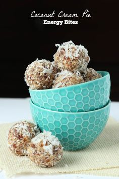 Coconut Cream Pie Bites - paleo and vegan friendly! The perfect quick and healthy snack! #paleo