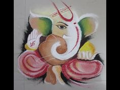Poster Rangoli Design - Colourful Ganesha or Ganpati in Rangoli - YouTube