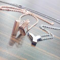 Harfli Kolye | Logosuz Gümüş