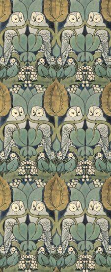 Charles Voysey wallpaper. THE best!