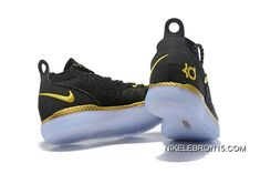 dcfbbbba0c08 Copuon Nike KD 11 Black Gold Kevin Durant Basketball Shoes