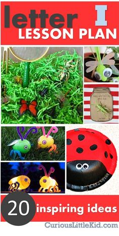 I Is For Insect: FREE Lesson Plan!  for more FREE lesson plans visit www.CuriousLittleKid.com #freelessonplan