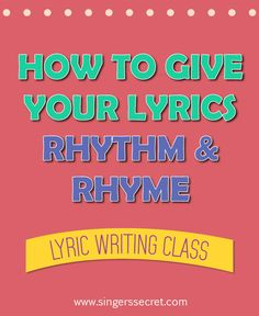 Super easy yet massively effective 'Rhythm & Rhyming Rules' to help your lyrics achieve a better flow and avoid sounding cliche. http://singerssecret.com/create-awesome-rhythm-rhyme/