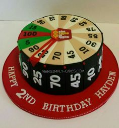 The big wheel from the Price is Right birthday cake Www.facebook.com/simplycakes.brittneyshiley