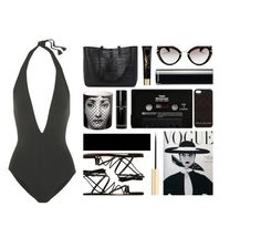 """""""Glam beach day"""" by julia463 ❤ liked on Polyvore featuring Miu Miu, Gianvito Rossi, Marc by Marc Jacobs, Yves Saint Laurent, Chanel, Bobbi Brown Cosmetics, CASSETTE, Fornasetti and Eres"""