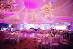 fusia and purple wedding drapery   Image 195006 - Decor   Purple   draping Lighting Purple Pink ...