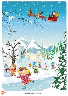 Ilustrații cu cele patru anotimpuri Winter Crafts For Kids, Winter Kids, School Cartoon, Preschool Education, Holiday Pictures, Science Experiments Kids, Christmas Home, Illustration Art, Clip Art