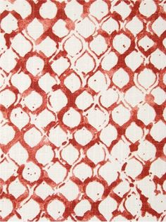 "Sata 31 Coral - John Robshaw Designer Fabric - Blockprint Textiles. Perfect drapery fabric or light use upholstery fabric. 100% cotton. Repeat: V: 13.5 H: 6.25, Duraguard finish. Made in U.S.A. DE 42514. 54"" wide"