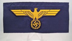 28/LXI Militaria UK – WW2 Deutsche (German) – Kriegsmarine (German Navy) Standard Issue BeVo National Emblem Breast Eagle / Badge.