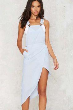 Nightwalker Raw Overall Dress - Denim - Dresses