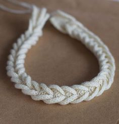 Cable Braided Necklace | OLGAJAZZY