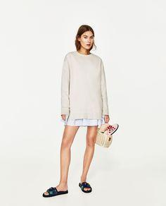 Zara extra large sweatshirt