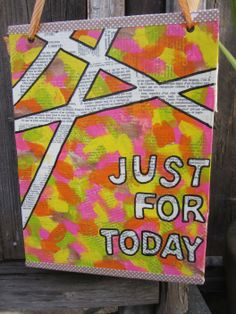 """Honorable Mention in the Adult division for our 2014 UNBOUND Book Art & Craft Contest - Cherise McBride's """"Just for Today."""""""