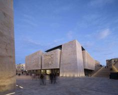 Stone's Throwback: Renzo Piano Modernizes Ancient Material in Malta - Architizer