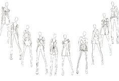 Fashion Sketchbook - dress sketches, collection lineup development - fashion drawings; fashion design; fashion portfolio // Kirsten Woodward