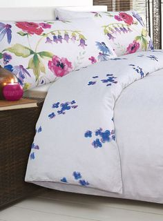 Watercolour Floral Bedding Set BHS from £24