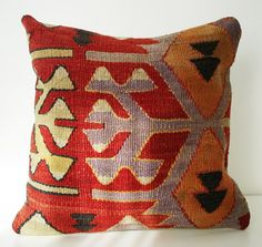 Sukan / SOFT Hand Woven - Turkish Kilim Pillow Cover ~ Etsy