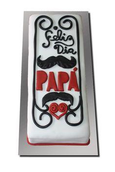 Una tarta para decirle a papá cuanto TE QUIERO!... tarta de fonfant