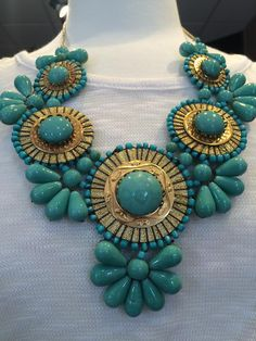 Help your mom accessorize by purchasing this beautiful turquoise, chunky necklace from RusticThread. http://www.rusticthread.com/