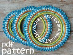 Crochet pattern 3 PICTURE FRAMES by ATERGcrochet by ATERGcrochet