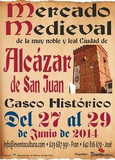 #MercadoMedieval en Alcazar de San Juan #CiudadReal 27-29 junio