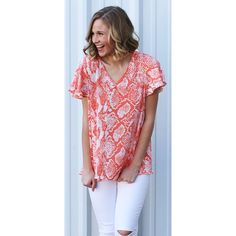 Avril Coral Snake Top from Shop Southern Roots TX