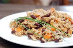 Fotorecept: Šampiňónové indické rizoto s fazuľou