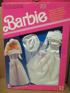 Barbie Bridal, Barbie Wedding Dress, Wedding Doll, Barbie Gowns, Barbie Clothes, Barbie Outfits, Barbie Stuff, Wedding Dresses, Barbie 1990