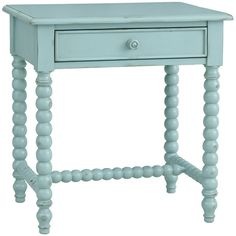 Clarke Side Table in Robin's Egg Blue design by Redford House ($1,185) ❤ liked on Polyvore featuring home, furniture, tables, accent tables, table, end tables, drawer furniture and drawer table