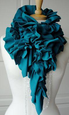 ruffle scarf.