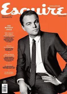 Menswear Scene: Leonardo DiCaprio en portada de Esquire Singapur Mayo 2013