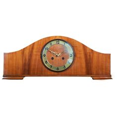 Large Art Deco Mantel Clock | From a unique collection of antique and modern clocks at https://www.1stdibs.com/furniture/decorative-objects/clocks/