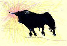 'Toro Love Sun 2' von April Turner bei artflakes.com als Poster oder Kunstdruck $27.72